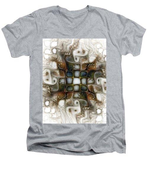 Memory Boxes-fractal Art Men's V-Neck T-Shirt