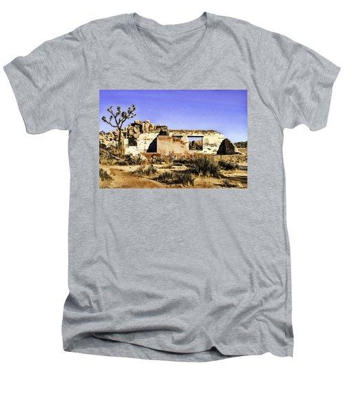 Men's V-Neck T-Shirt featuring the painting Memory by Muhie Kanawati