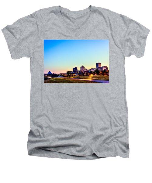 Memphis Morning - Bluff City - Tennessee Men's V-Neck T-Shirt