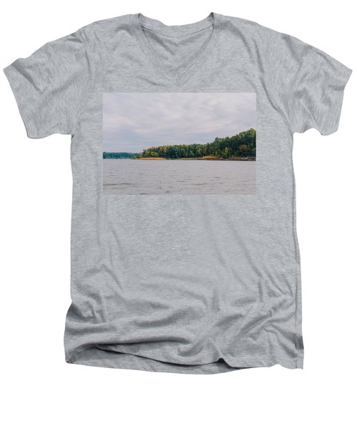Men Fishing On Barren River Lake Men's V-Neck T-Shirt