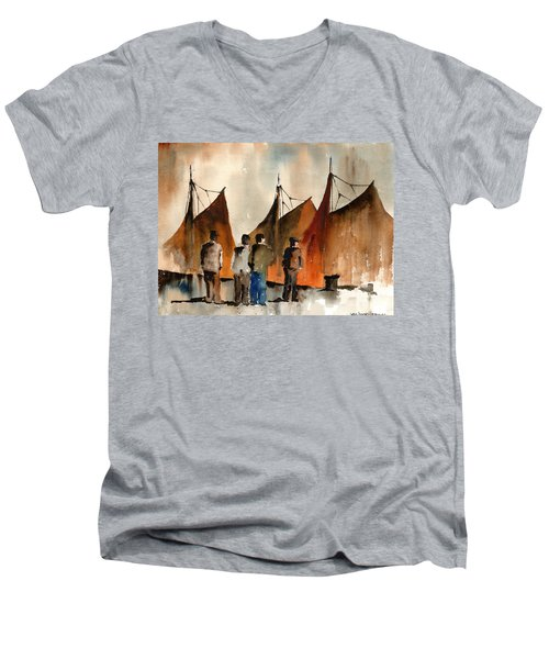Men Looking At Hookers  Galway Men's V-Neck T-Shirt