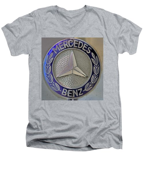 Mercedes Benz Badge Blue Men's V-Neck T-Shirt