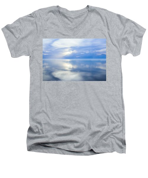 Merging Horizons Men's V-Neck T-Shirt