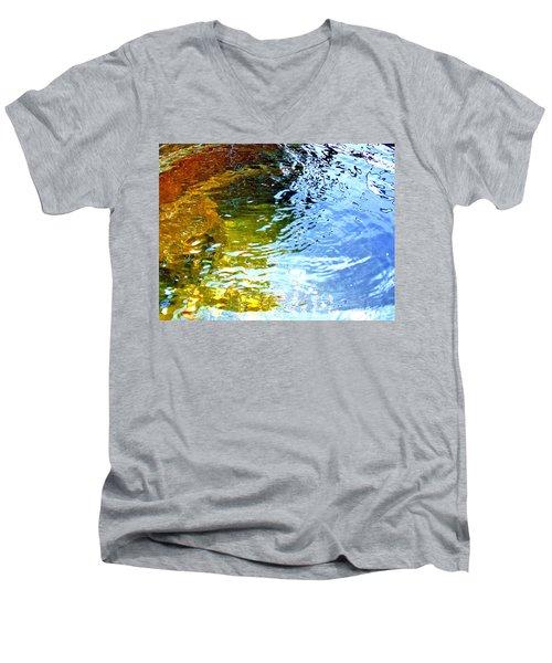 Men's V-Neck T-Shirt featuring the photograph Mermaids Den by Deborah Moen