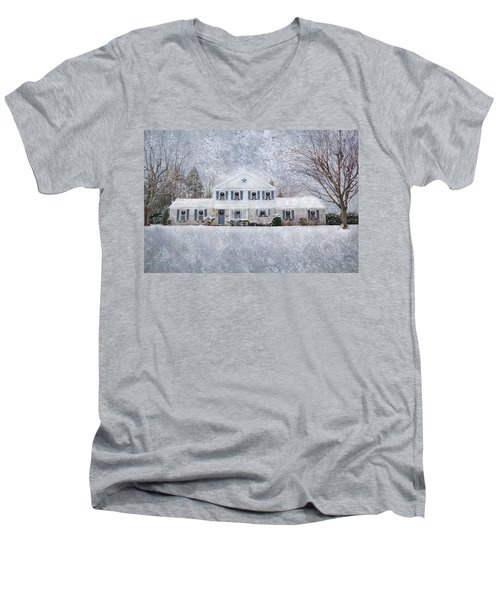 Wintry Holiday Men's V-Neck T-Shirt