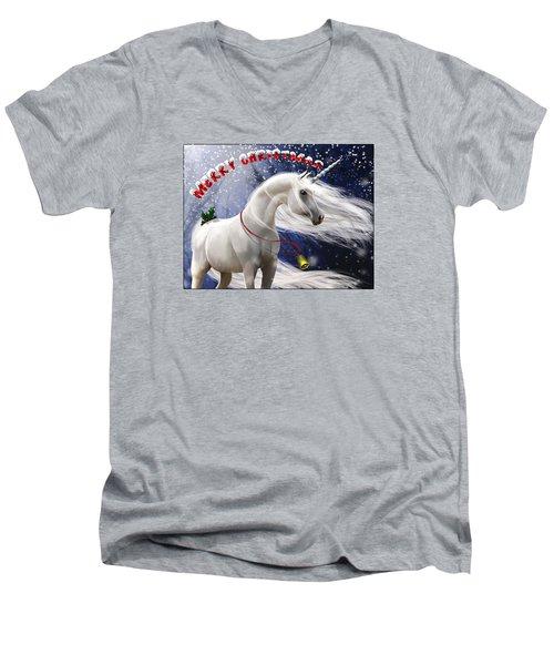 Merry Christmas Men's V-Neck T-Shirt by Kate Black