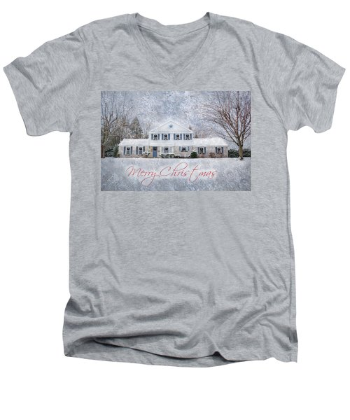 Wintry Holiday - Merry Christmas Men's V-Neck T-Shirt