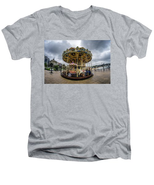 Merry-go-round Men's V-Neck T-Shirt