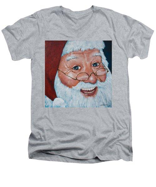 Merry Santa Men's V-Neck T-Shirt