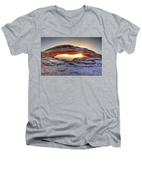Mesa Sunburst Men's V-Neck T-Shirt by David Andersen