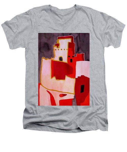 Mesa Verde Original Painting Sold Men's V-Neck T-Shirt by Sol Luckman