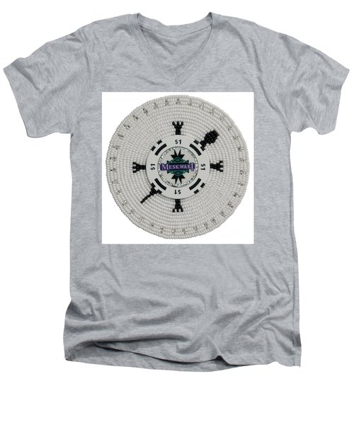 Meskwaki White Men's V-Neck T-Shirt