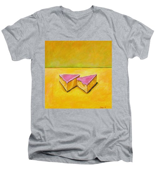 Mexican Pink Cake Men's V-Neck T-Shirt by Manny Chapa