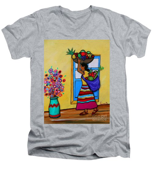 Mexican Street Vendor Men's V-Neck T-Shirt