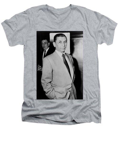 Meyer Lansky - The Mob's Accountant 1957 Men's V-Neck T-Shirt