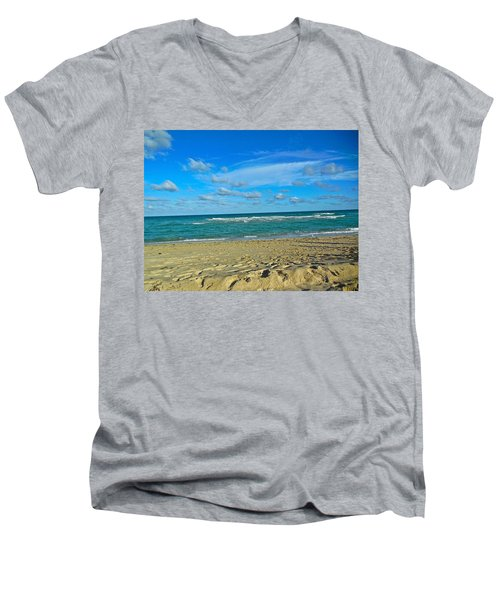 Miami Beach Men's V-Neck T-Shirt
