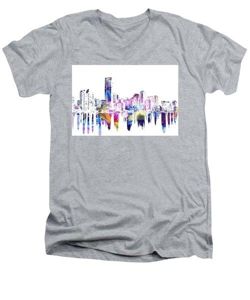 Miami Skyline Men's V-Neck T-Shirt by Doc Braham