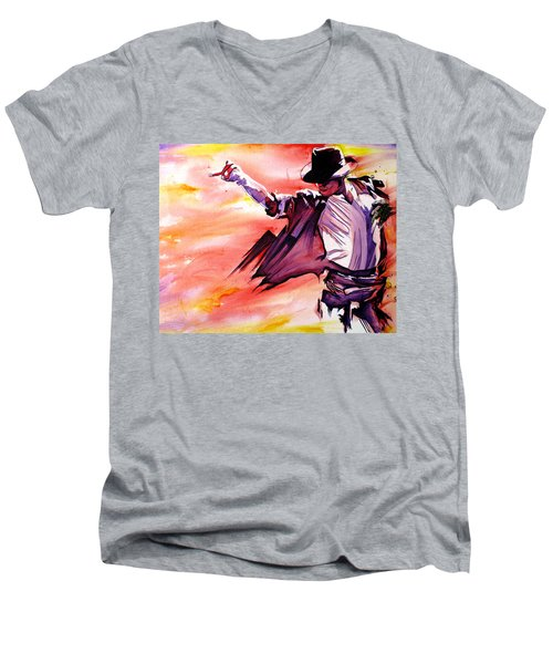 Michael Jackson-billie Jean Men's V-Neck T-Shirt