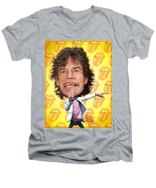 Mick Jagger Men's V-Neck T-Shirt