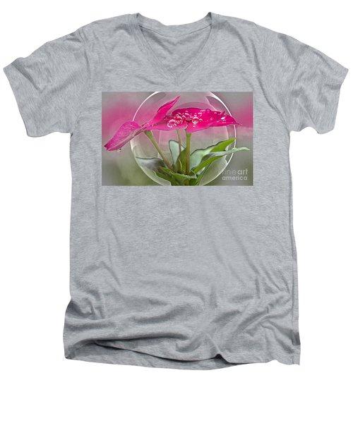 Micro Spheres Men's V-Neck T-Shirt