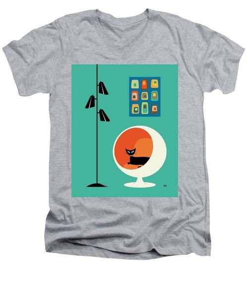 Mid Century Mini Oblongs Men's V-Neck T-Shirt