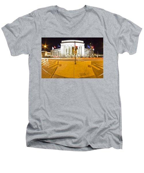 Midnight Train From Philly Men's V-Neck T-Shirt