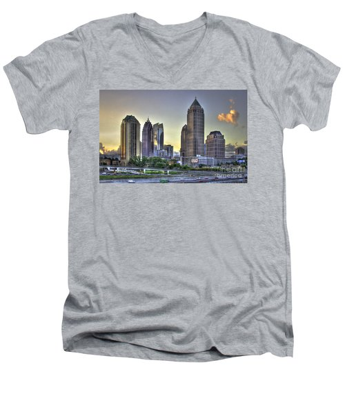 Midtown Atlanta Sunrise Men's V-Neck T-Shirt