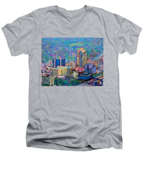 Mill Mountain View Men's V-Neck T-Shirt