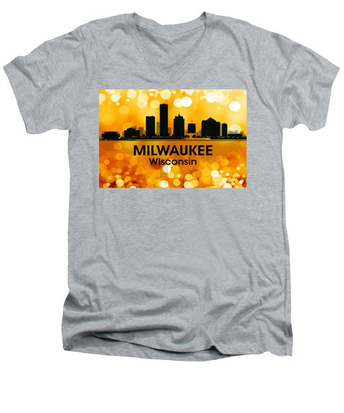 Milwaukee Wi 3 Men's V-Neck T-Shirt