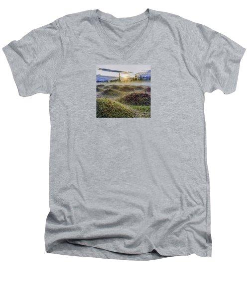 Mima Mounds Mist Men's V-Neck T-Shirt