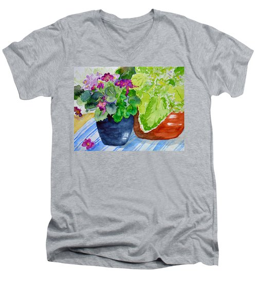 Mimi's Violets Men's V-Neck T-Shirt