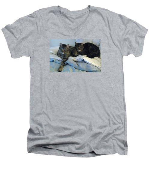 Ming And Sheba Resting  Men's V-Neck T-Shirt