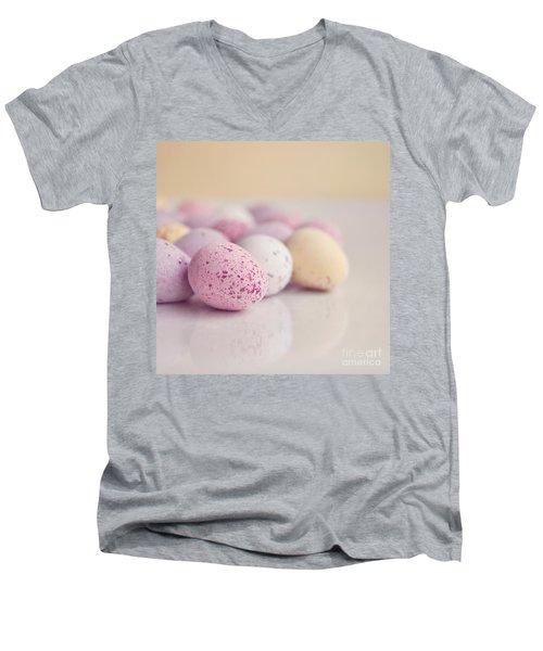 Mini Easter Eggs Men's V-Neck T-Shirt by Lyn Randle