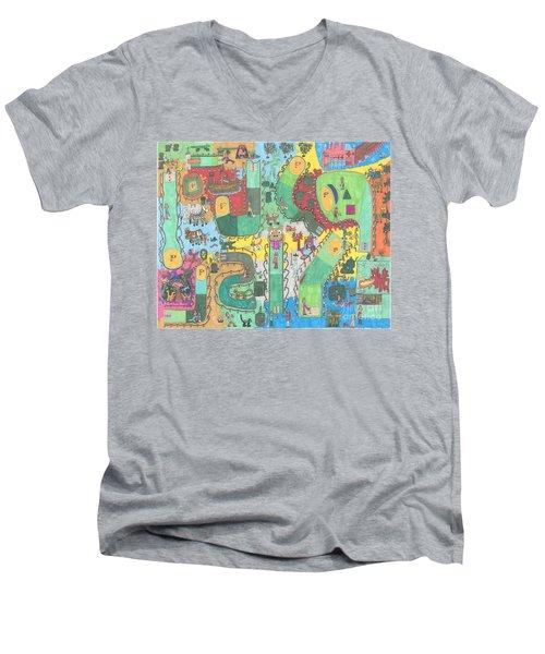 Miniature Golf Men's V-Neck T-Shirt