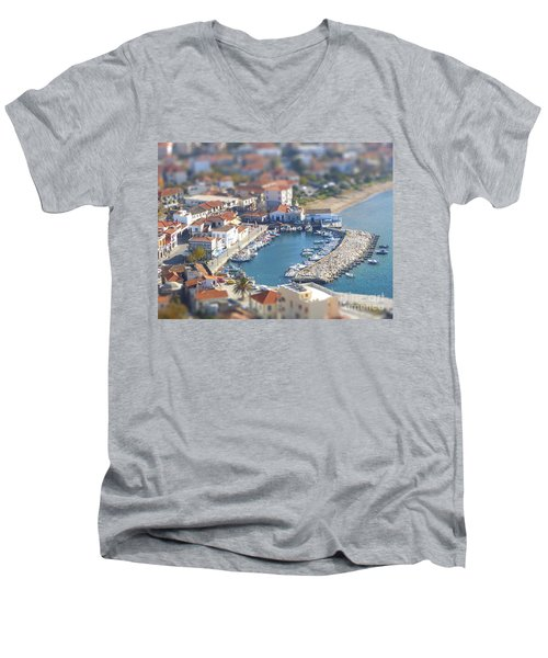 Men's V-Neck T-Shirt featuring the photograph Miniature Port by Vicki Spindler