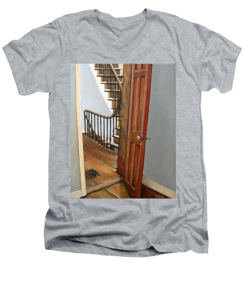 Minnie Crossing The Threshold  Men's V-Neck T-Shirt