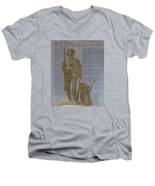 Minuteman Constitution Men's V-Neck T-Shirt