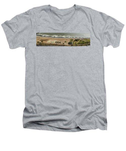 Miraflores Beach Panorama Men's V-Neck T-Shirt