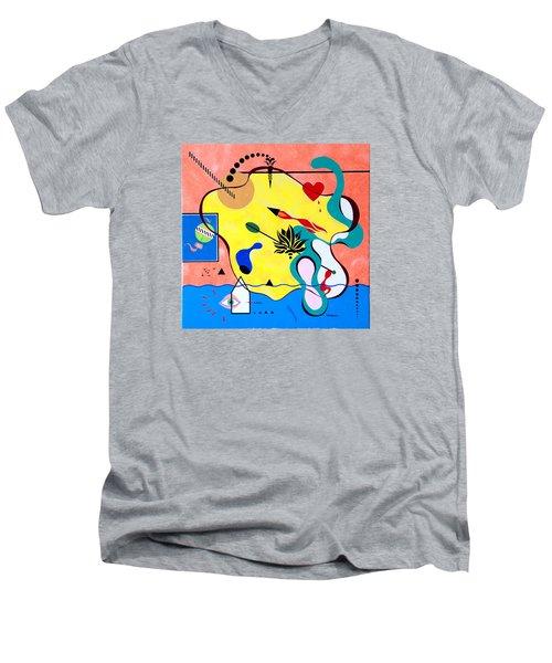 Miro Miro On The Wall Men's V-Neck T-Shirt by Thomas Gronowski