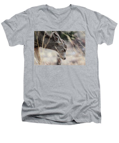 Men's V-Neck T-Shirt featuring the photograph Misery by Shane Bechler