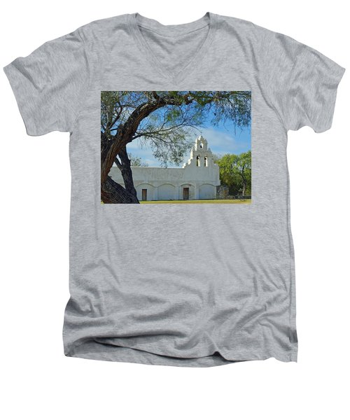 Mission San Juan Men's V-Neck T-Shirt