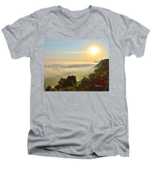 Mississippi River Fog Men's V-Neck T-Shirt