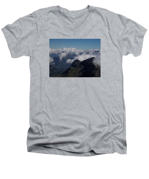 Mist From The Schilthorn Men's V-Neck T-Shirt