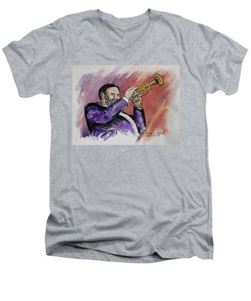 Mister Too Many Notes Men's V-Neck T-Shirt by Frank Hunter