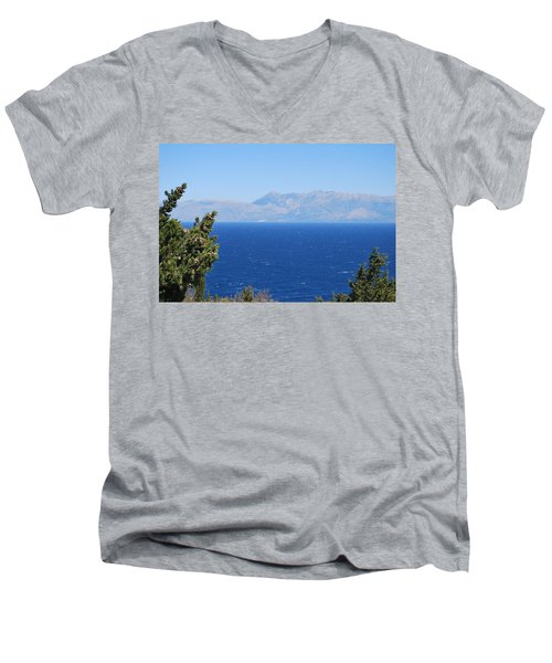 Men's V-Neck T-Shirt featuring the photograph Mistral Wind by George Katechis