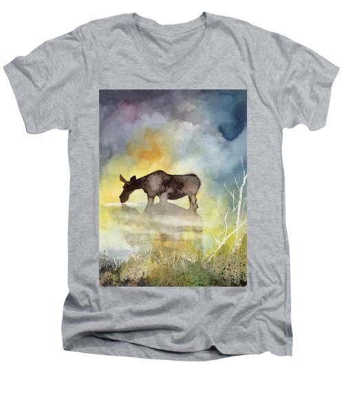 Misty Moose Minerva Men's V-Neck T-Shirt