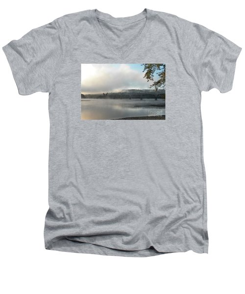 Misty Railway Bridge Men's V-Neck T-Shirt