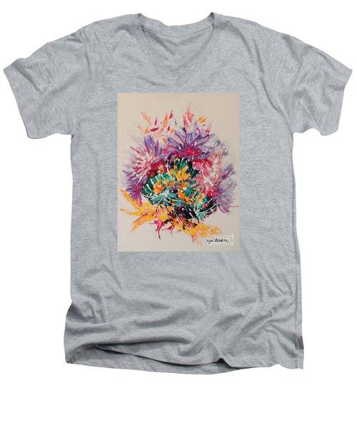 Mixed Coral Men's V-Neck T-Shirt