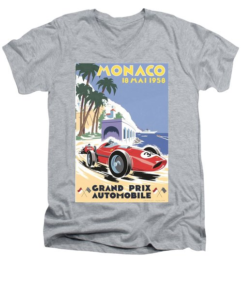 Monaco Grand Prix 1958 Men's V-Neck T-Shirt