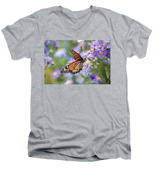 Monarch Butterfly 3 Men's V-Neck T-Shirt